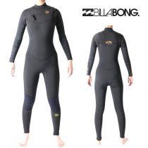 ビラボン ウェットスーツ レディース 4mm / 3mm チェストジップ フルスーツ サーフィン ウェットスーツ Billabong Wetsuits