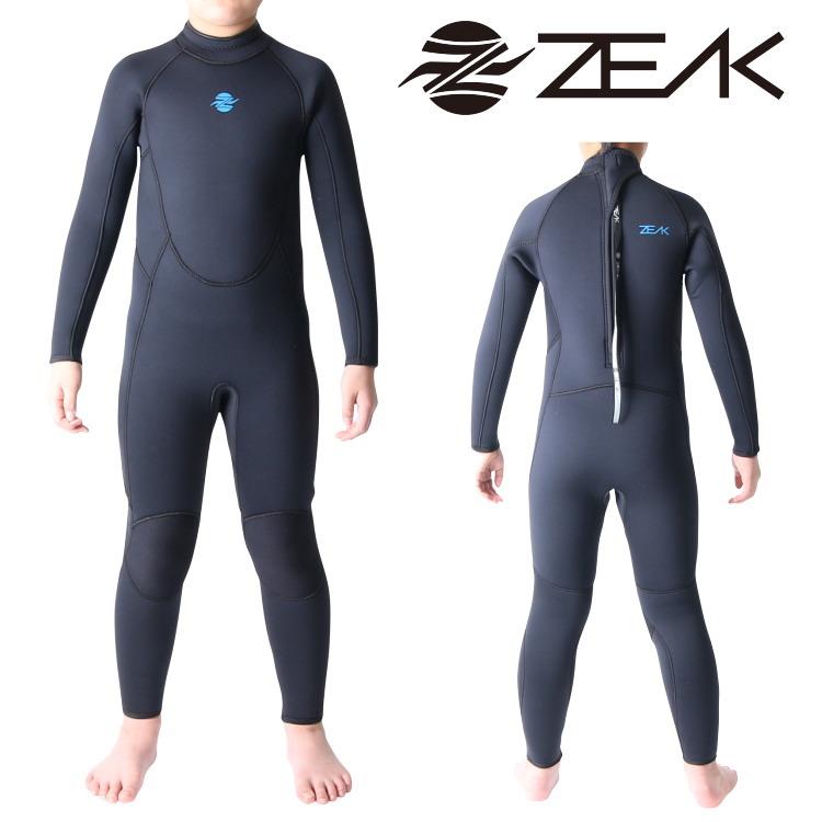 ZEAK(ジーク) ウェットスーツ 子供用 フルスーツ (5×3mm) ウエットスーツ サーフィンウエットスーツ ZEAK WETSUITS