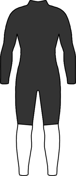 長袖スプリング ウェットスーツ